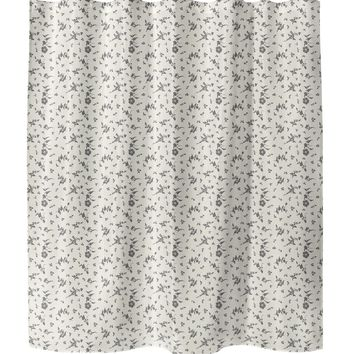 FLORAL DANCE IVORY Shower Curtain By Terri Ellis