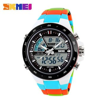 Skmei Multicolor Digital Analog Watch