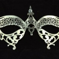 Sexy Venetian Laser Cut Silver Masquerade Party Mask Lady Bug by Kayso International