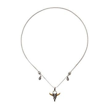 Alex and Ani Spirited Skull Expandable Necklace