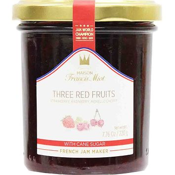 Francis Miot Three Red Fruits French Jam 7.7 oz. (220g)
