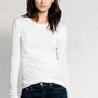 Rag & Bone - Classic Long Sleeve Tee, Bright White