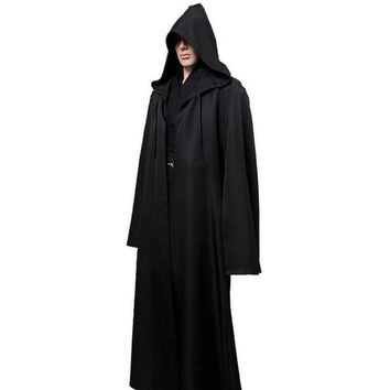Star Wars Jedi Cloak Cosplay Costumes Adult Men Hooded Robe Cape