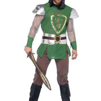 DCCKLP2 4PC.Queens Guard,hooded tunic,belt,arm cuffs,pants in GREEN