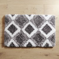 Cloud Step® Diamond Charcoal 24x60 Bath Rug