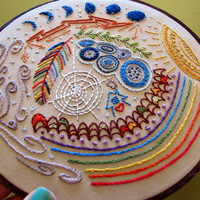 full circle - embroidery sampler pattern