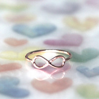 Rose Gold Infinity Ring Infinity thread Ring ( 3colors)