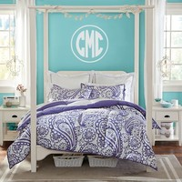 Circle Block Monogram Decal