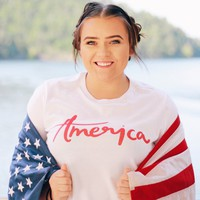 America Relaxed Tee - Chelcey Tate Designs