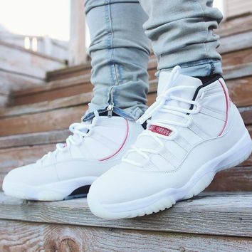 "Air Jordan 11 ""Platinum Tint"" AJ11 Retro Sneakers - Best Deal Online"