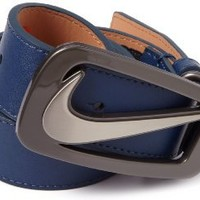 Nike Men's Signature Swoosh Cutout II Belt, College Navy, 36