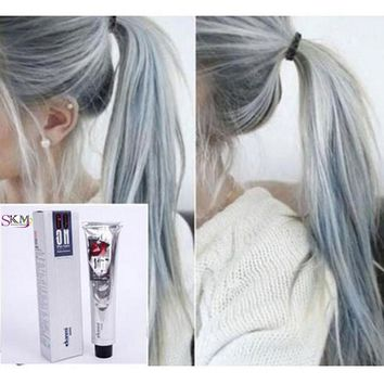 Professional  100ml Hair Color Cream Light Gray Color Permanent Super Dye Hair Non-toxic Personalized Charming Cream Light