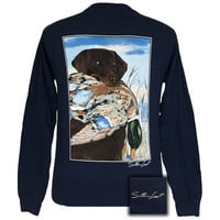 Southern Limits Lab Duck Unisex Comfort Colors Long Sleeve T-Shirt