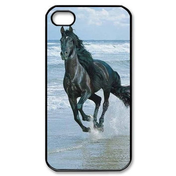 Magestic Horse running wild beach iPhone 4 4S 5C 5 5S 6 6s 6 PLUS 6s plus Protective Hard Case AML