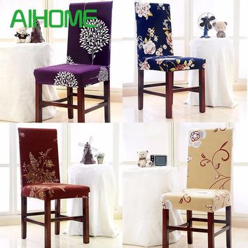 Polyester Spandex Dining Chair Covers for Wedding Party Chair Cover Dining Chair Seat Covers Removable Stretch Elastic Slipcover