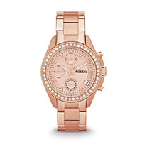 Decker Chronograph Stainless Steel Watch, Rose