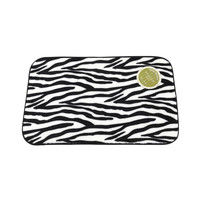 Animal Instincts Faux Fur Bath Mat, Zebra