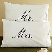 Gift Idea: Mr. and Mrs. Pillowcases