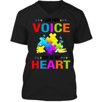 Autism Awareness Shirts For Gift Autism Mom Shirt For Woman Mens Printed V-Neck T