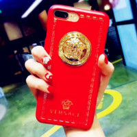 Versace Trending  iPhone Phone Cover Case For iphone 6 6s 6plus 6s-plus 7 7plus hard shell Red