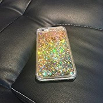 iPhone 6 Case, iPhone 6S Case, Crazy Panda® Luxury Bling Glitter Sparkle Hybrid Bumper Case Liquid Infused with Glitter and Stars For Iphone 6/Iphone 6S Obtained Test Report - Light Gold Diamonds