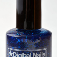 My Other Car is a TARDIS: A brilliant blue  Who inspired glitter nail polish by Digital Nails
