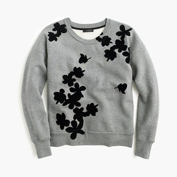 J.Crew Womens Graphic Floral Sweatshirt