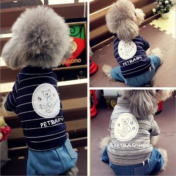 BENMEI Dog Clothes Dog's Jacket Cotton-padded Pet Clothes Poodle Teddy Bear Pet Costume Clothing Jeans Animal Winter Coat