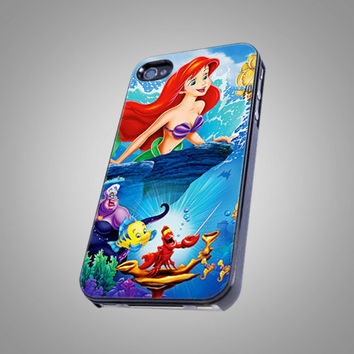 Ariel The Little Mermaid - Beautiful Disney Princess - KCB 063 - Design on Hard Cover - iPhone 4 / 4S Case, iPhone 5 Case