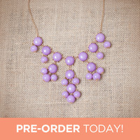 Lavender Mini Bubble Necklace