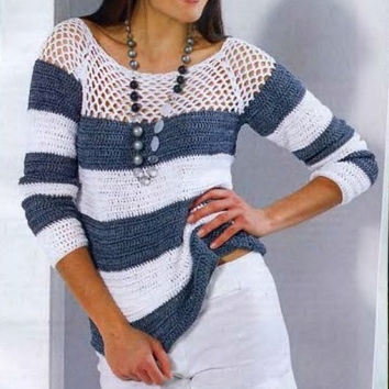 Pattern only - a crochet spring/summer/fall top blouse