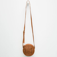 Hands Free Crossbody Bag Cognac One Size For Women 25651940901
