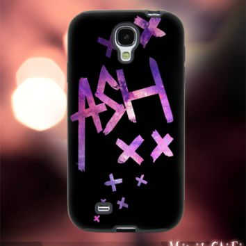 MC249Y,21,Nebula,Galaxy,Ashton,5 Second of Summer-Accessories case cellphone-Design for Samsung Galaxy S5 - Black case-Material Soft Rubber