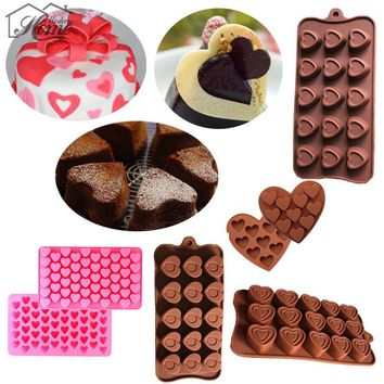 3D Silicone Chocolate Mold Fondant Cake Decorating Tools Candy Cookie Soap Ice Cube Jelly Pastry Bar Mould DIY Kitchen Bakeware