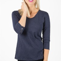 Casual Metro Top - Navy Melange Heather