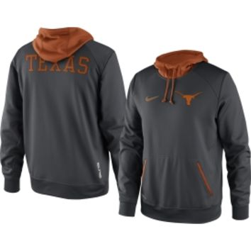 Nike Men's Texas Longhorns Grey Pullover Performance Hoodie