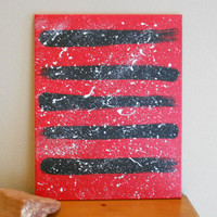 Original Abstract Painting Red and Black by Acires on Etsy