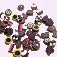 Fimo Nail Deco - Chocolates and swirls