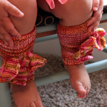Baby Girl Leg Warmers / Toddler Leg Warmers / Knit Baby Leg Warmers / Ready to Ship!