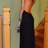 Low And Behold Backless Maxi Dress (more colors)