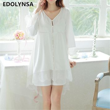 New Arrivals Sexy Nightgown Robes Set Bathrobe Sets Lace Nightdress Set Bridesmaid Robes Peignoir Wedding Robe Sets #H135