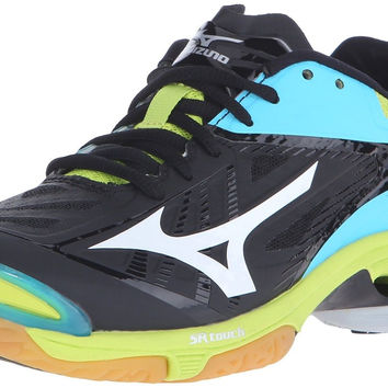 Mizuno Women's Wave Lightning Z2 Volleyball Shoe Black/Blue Atoll 6 C/D US