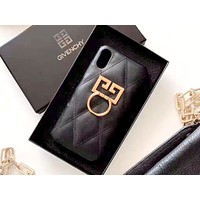 Givenchy 2019 new iPhone7plus leather phone case cover Black