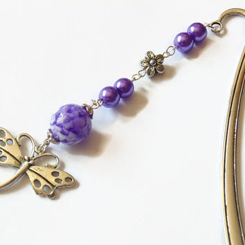 Dragonfly bookmark, dragonfly gift, metal bookmark, silver bookmark, book accessories, book lover gift, stocking stuffer, book gift