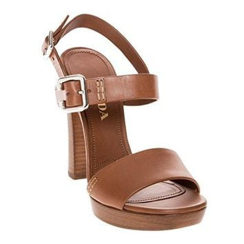 Prada Platform Leather High Heel Sandals