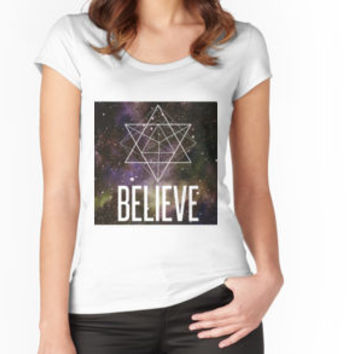 'Believe In A Higher Power' Classic T-Shirt by PeaceLuvJoy