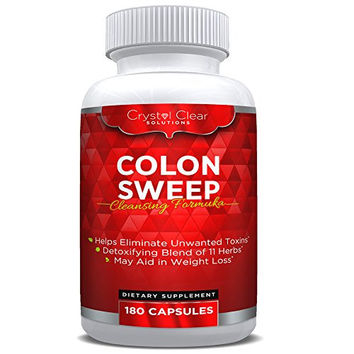 Gentle Colon Cleanse Detox Pills (180 Caps, Multiple Cleanses) for Weight Loss and Increased Energy, Veggie Capsules