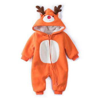 Baby Christmas Reindeer Cotton Snowsuit With Hat Newborn Baby Girl Boy Clothes Skiing Snowsuit For Boys Winter Coats And jackets