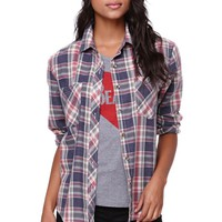 LA Hearts Burnout Plaid Shirt - Womens Shirts