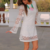Maria Lace Dress, White